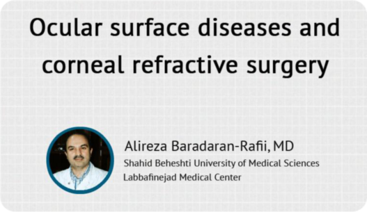 Ocular surface diseases and corneal refractive surgery