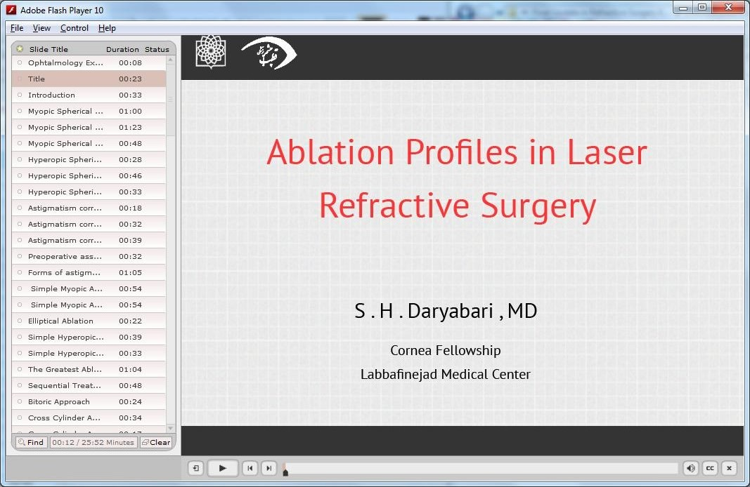 Ablation Profiles in Laser Refractive Surgery