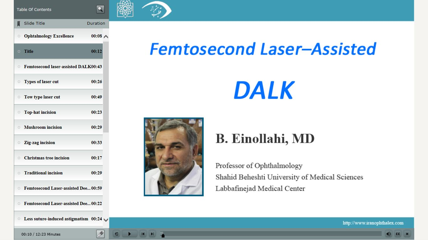 Femtosecond Laser-Assisted DALK